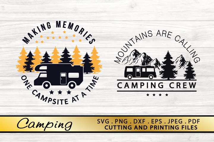 2 Camping SVG PNG DXF EPS File Camping Crew SVG Vector Files