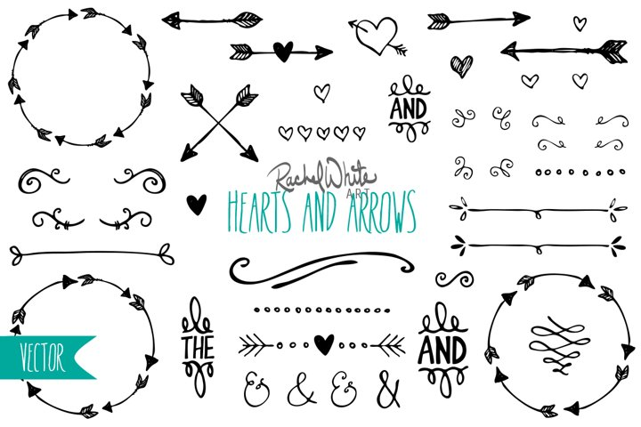 Hearts & Arrows - Free Design of The Week Font