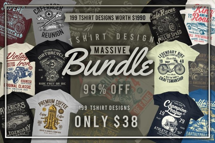 Tshirt Designs Massive Bundle