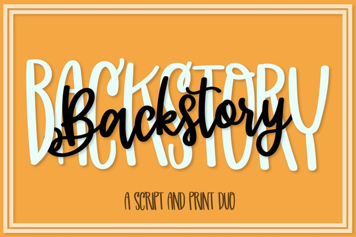 Backstory - A Fun Script & Print Duo!