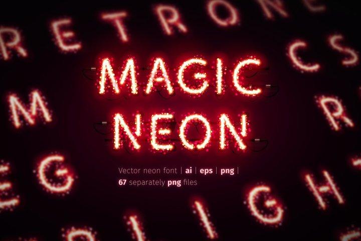Glowing Magic Neon Type