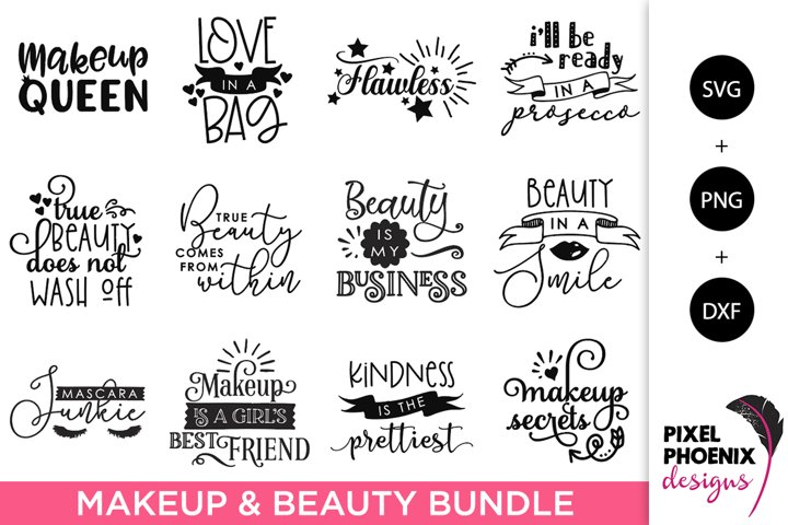 Makeup SVG Bundle, Beauty SVG Bundle - 12 Files