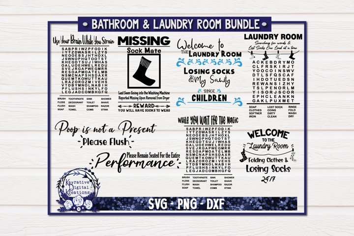 Bathroom Laundry Room Bundle