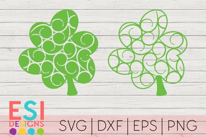 St Patricks Day SVG   Flourish Shamrock Design Set