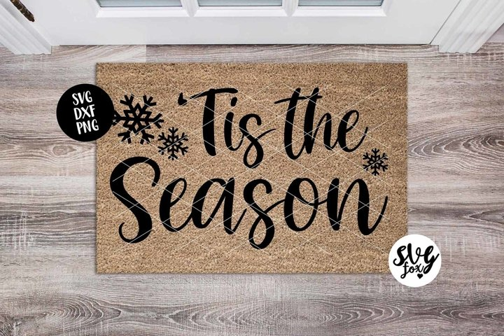 Tis The Season Christmas Doormat SVG DXF PNG