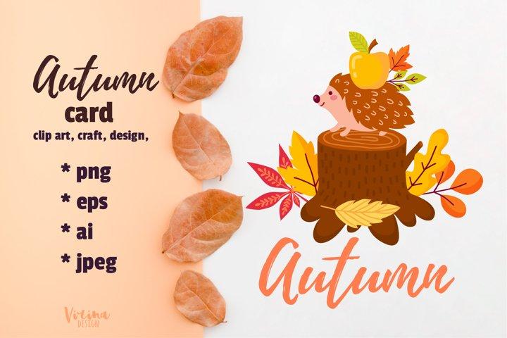 Fall Autumn Season printable card. Fall quotes