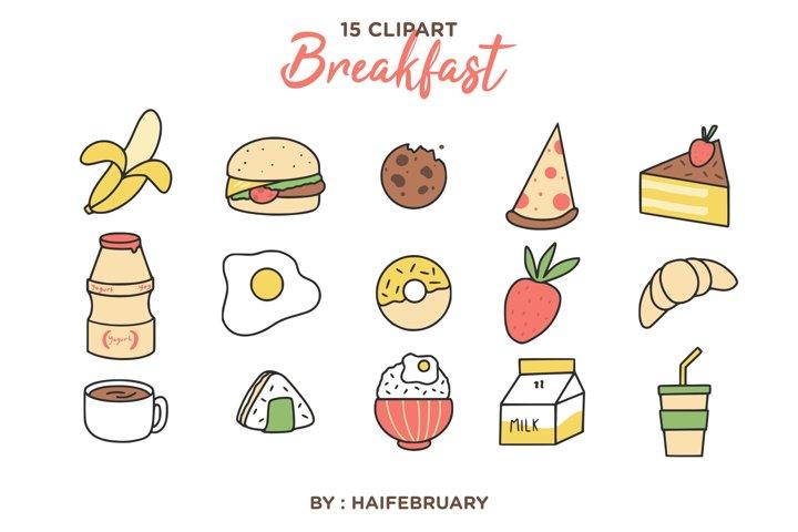 Breakfast Clipart Illustration Set