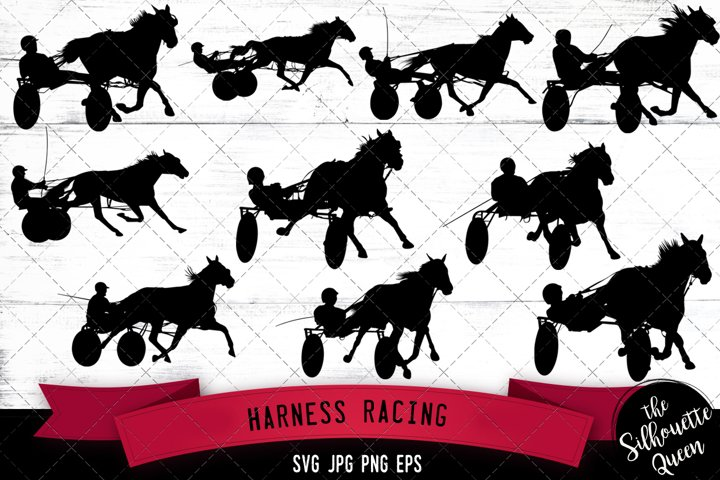 Harness Racing Svg Cut File