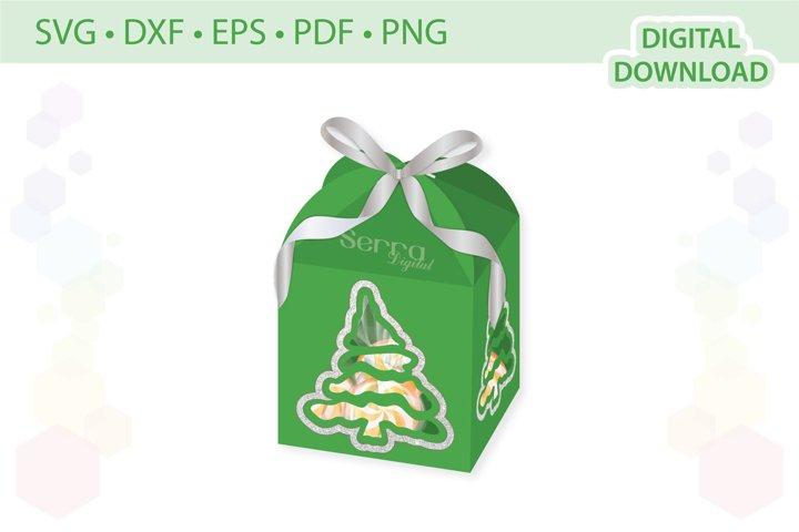 Christmas Tree Favor box template .svg .dxf .eps .pdf .png