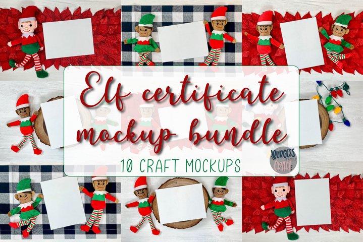 Mock up Elf certificate bundle