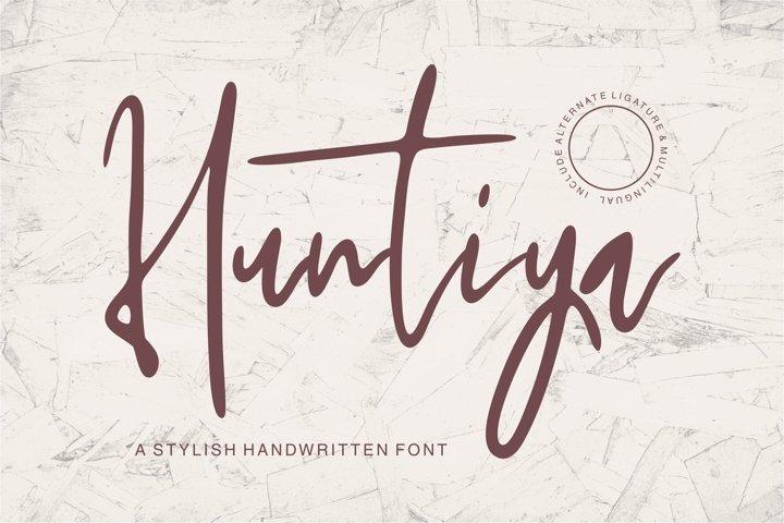 Web Font Huntiya - A Stylish Handwritten Font