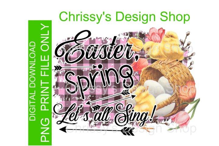 Easter Spring Chicks PNG Jpg sublimation print
