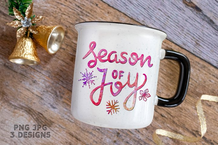 Sublimation Christmas PNG Quote Season of Joy