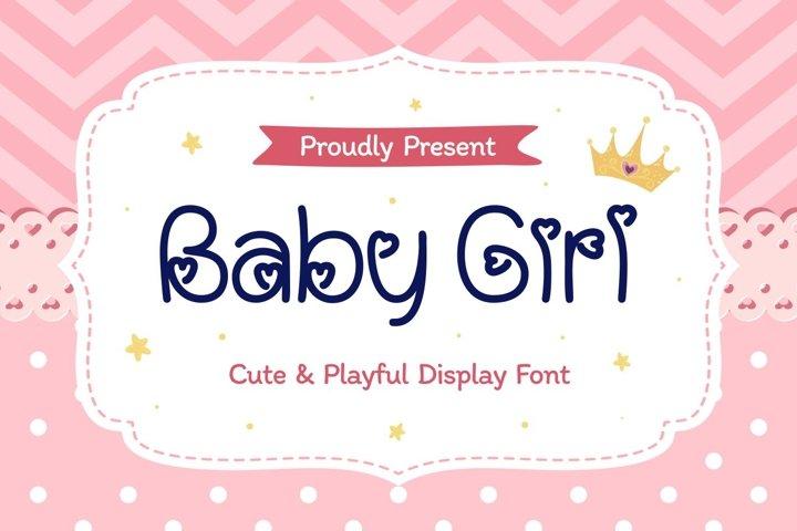 Baby Girl - Cute & Playful Display Font