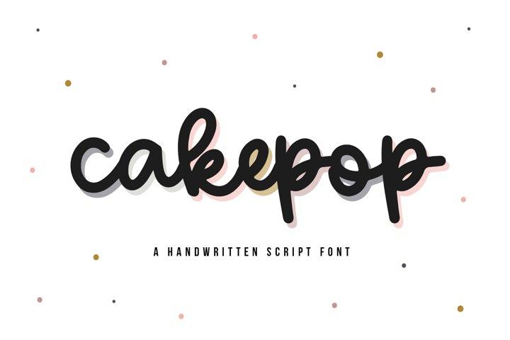 Cakepop - A Handwritten Script Font
