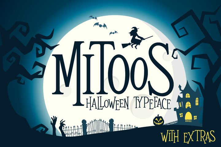 Mitoos Halloween typeface with extras
