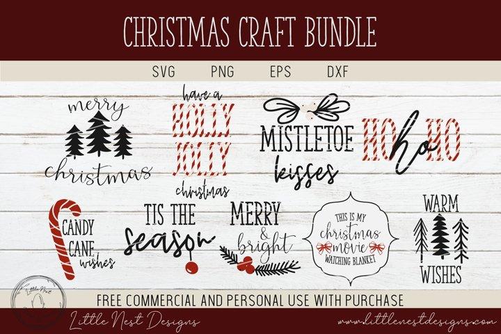 Christmas Craft Bundle - SVG Christmas Bundle - 9 Christmas