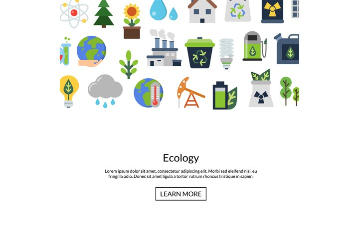 Vector background with ecology flat icons