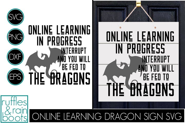 Online Learning Door Sign - Fed to the Dragons SVG