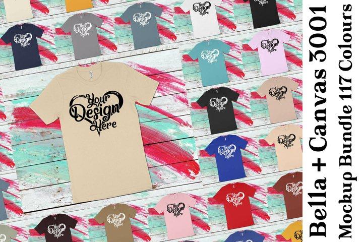 Bella Canvas 3001 T-Shirt Mockup Bundle 441