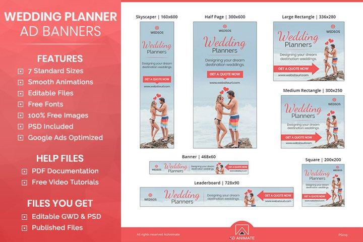 Wedding Planner Banner - Event Management Ad templates