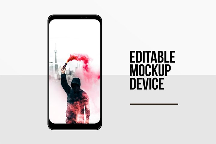 Editable Smartphone Template Vectors
