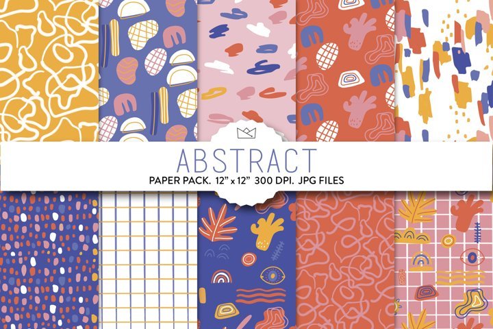 Abstract digital paper, abstract shapes, wrapping paper