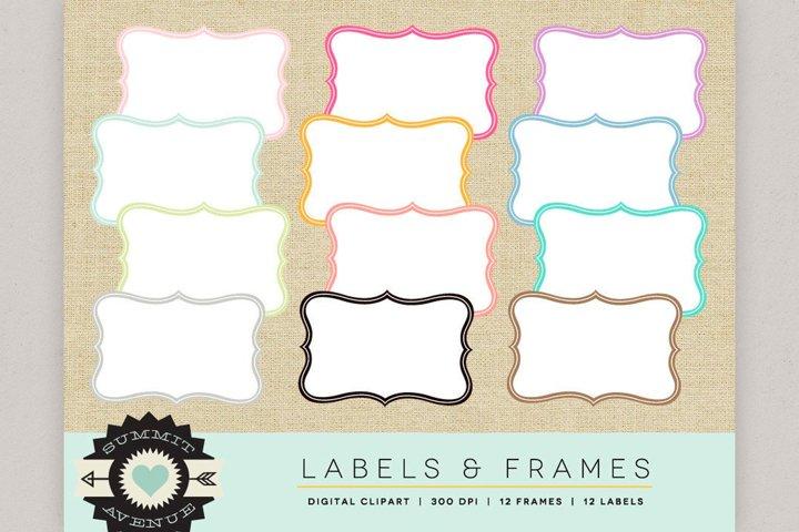 Label & Frame Shapes, Digital borders, Labels, Badges and F