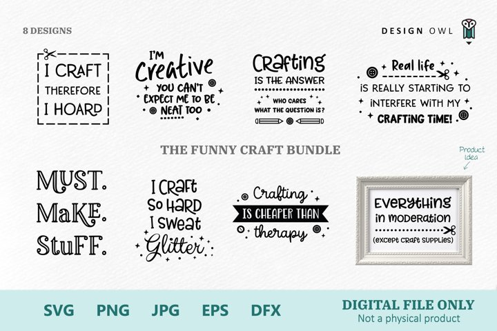 The Funny Craft Bundle - SVG files