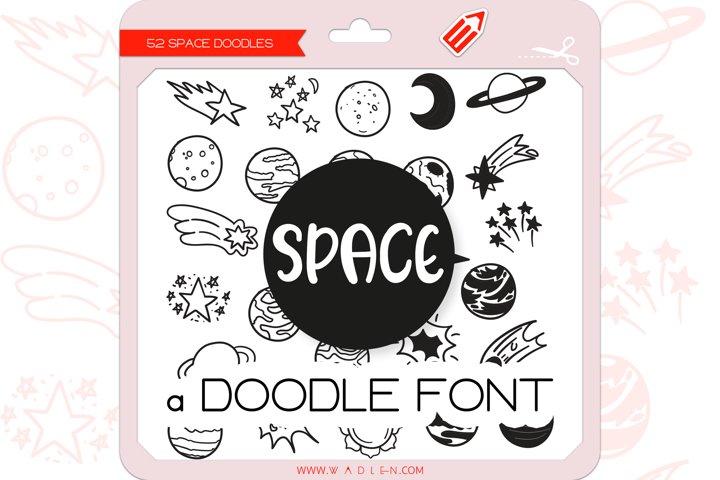 Space Doodles - Dingbats Font