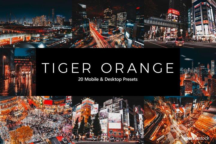 20 Tiger Orange Lightroom Presets & LUTs