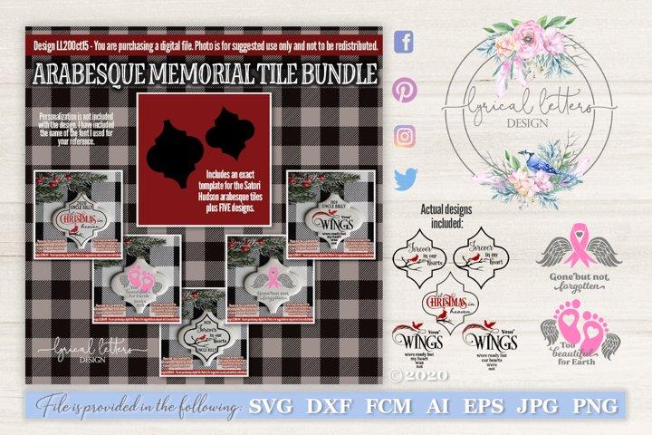 Arabesque Ceramic Tile Memorial Bundle SVG Files LL20Oct15