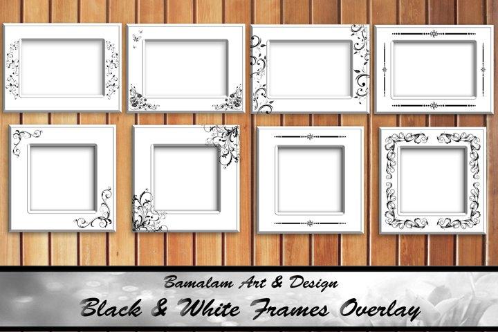 Black & White Frames Overlays