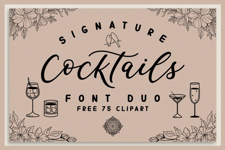 Signature Cocktails Font Duo