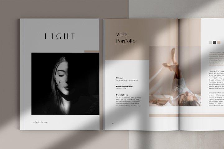 Light Creative Portfolio Brochure