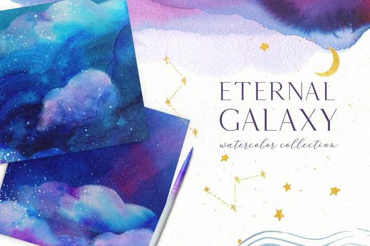 Eternal Galaxy Watercolor Collection