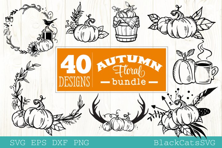 Pumpkin frames SVG bundle 40 designs