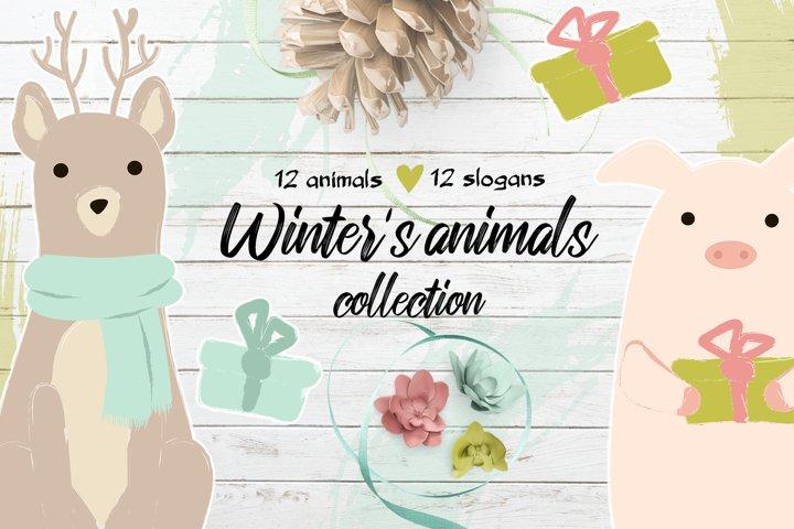 Winter's cute animals example