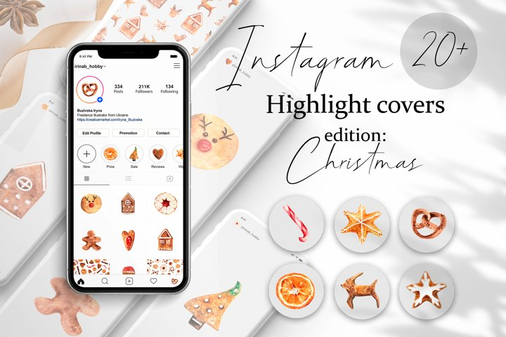 Christmas Instagram Highlight Covers. Story Templates