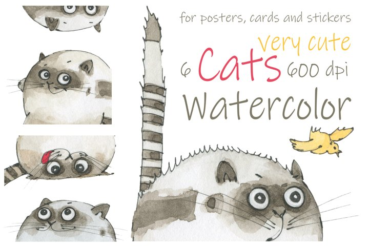Cats for posters, cards, stickers