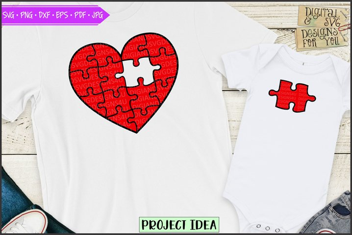 Piece of my heart - Red puzzle