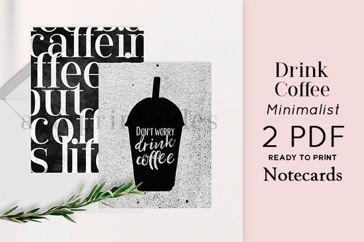 Drink Coffee Minimalist Notecards