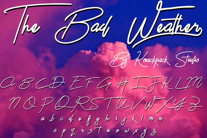 The Bad Weather - Signature Typeface