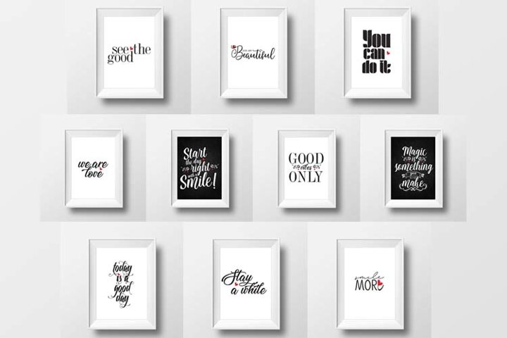 Motivational Prints Posters, Inspirational Quotes, A4 format
