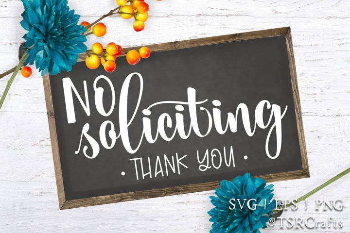 No Soliciting Sign - digital design