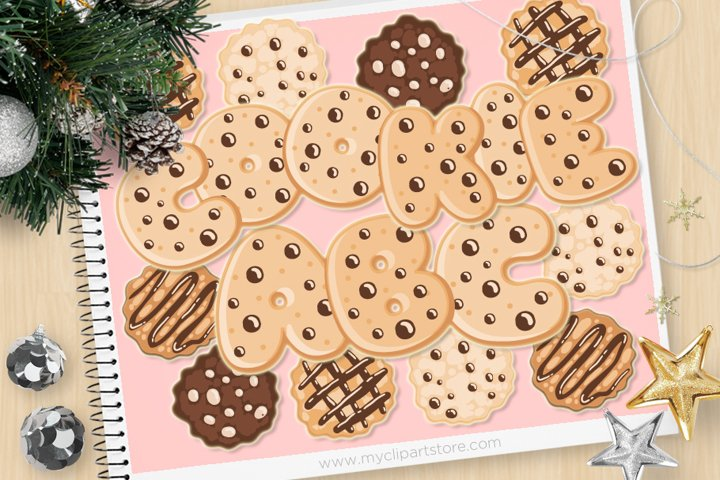 Chocolate Chip Cookie Alphabet and Numbers