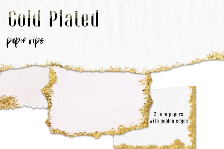 5 Gold plated torn paper mini set