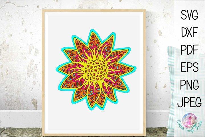 Layered Sunflower Mandala