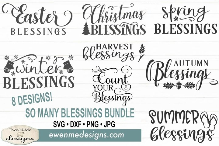 So Many Blessings Bundle | Blessings | SVG DXF Files