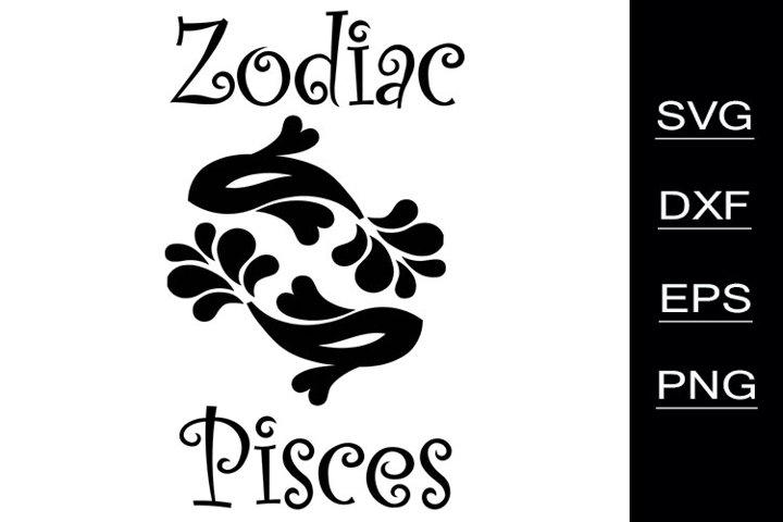 Zodiac Pisces SVG cutting files